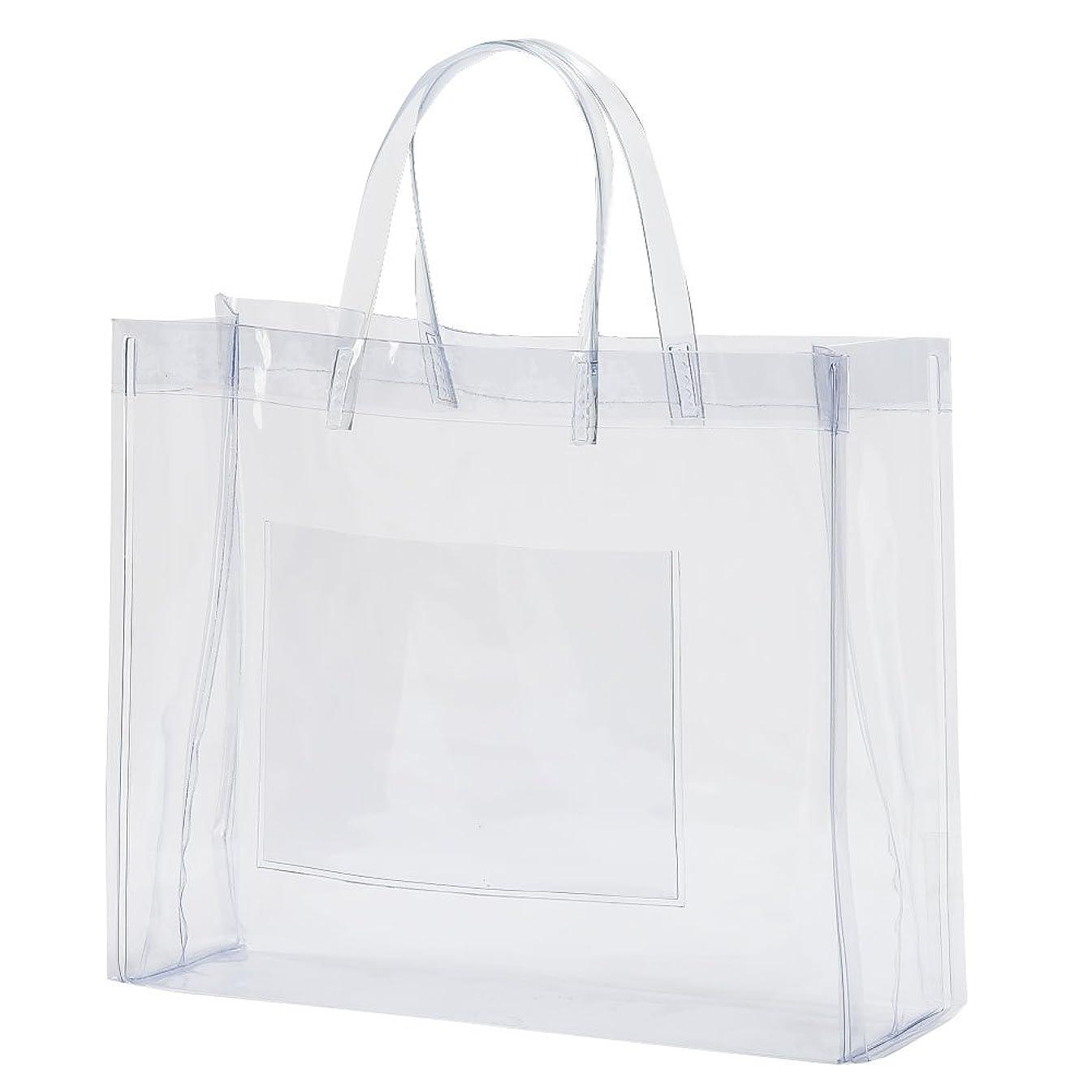 週間理容師ちょっと待って抗菌 透明ビニールバッグ Mサイズ
