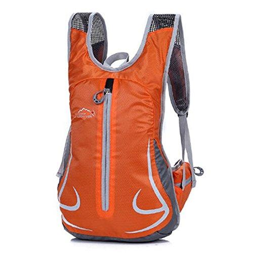 SINCERE@ Équitation sac à dos mâle sac casual épaule femme sac sac de sport vélo sac à dos à dos en plein air ultra-léger (Orange)