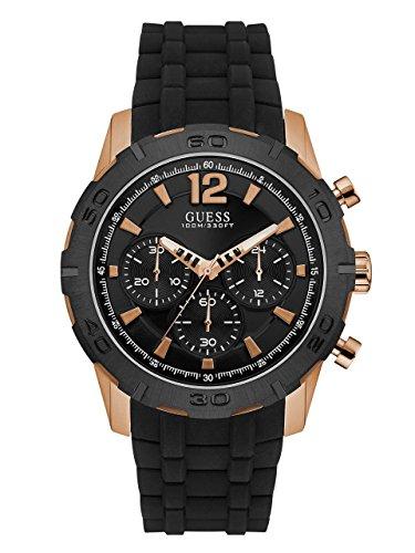 Guess Herren Chronograph Quarz Uhr mit Silikon Armband W0864G2