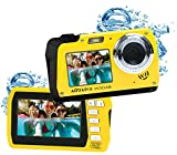 Easypix W3048 Edge Yellow - Cámara Sumergible, 48MP Doble Pantalla