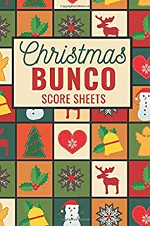 Christmas Bunco Score Sheets: 100 Scoring Pads for Bunco Players, Bunco Score Cards, Score Keeper Tracker Game Record Notebook, Gift Ideas for ... Pattern Cover Design, Handy Size 6 x 9