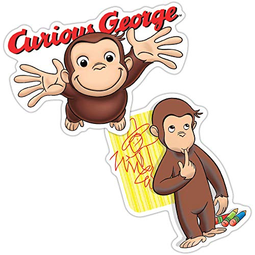 Popfunk Curious George Crayon Drawing Collectible Stickers
