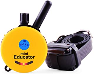 Mini Educator Dog Training e Collar - Educator Remote Trainer System - Waterproof - Vibration Tapping Sensation with eOutletDeals Value Bundle