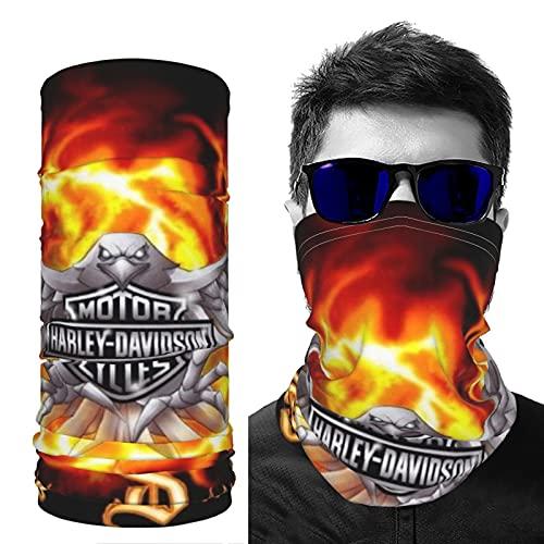Máscara facial deportiva de seda de hielo de refrigeración Bandana Historia de Harley Davidson transpirable reutilizable Pasamontañas elástico senderismo al aire libre para hombres y mujeres