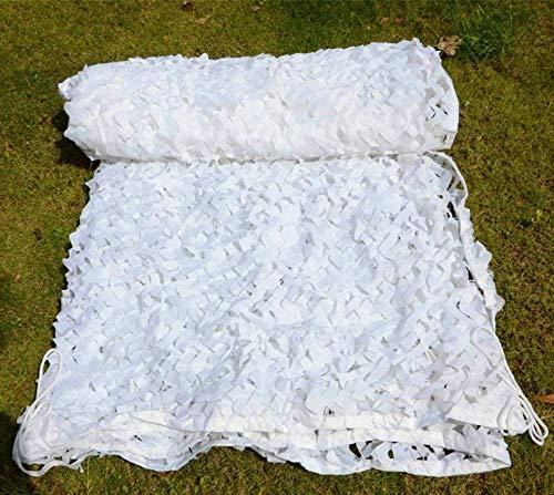 matadobody 2 * 3M 3 * 3M Malla Blanca Camuflaje Redes Militares reforzadas para el Dosel del jardín Pérgola Ocultar Sun Shelter Shade Gazebo-White with Gird_3 x 4 m