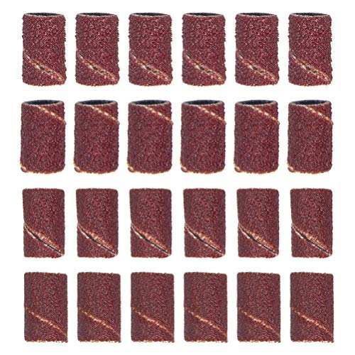 WIFUN 200 Pieces Sanding Bands, Nail Sanding Bands Grinding Sand 80/120/180/240 Grits for Electric Nail Files Drill Tool (50Pcs for Each Size)