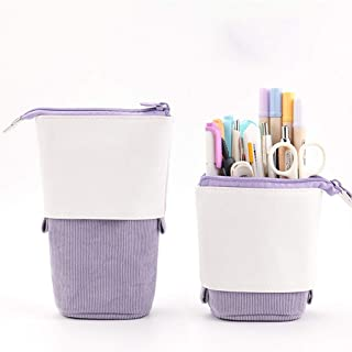 Oyachic Stand up Pencil Case Standing Pencil Holder Transformer Pencil Pouch Telescopic Pen Bag Cute Makeup Bag Cosmetic O...