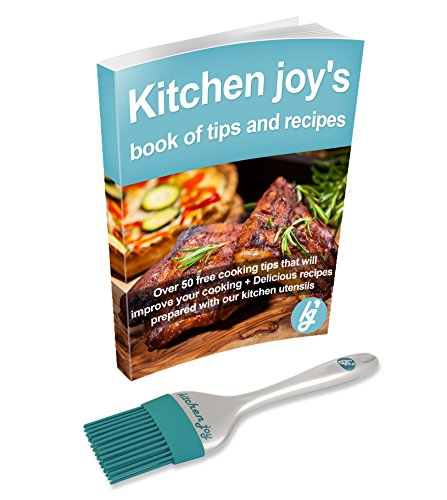 Kitchen Joy Teal Silicone Basting Brush - Pastry Brush for Food, Grilling, Baking, Cooking and BBQ, for Applying Butter, Oil, Sauces and Marinades. The Perfect Barbecue and Kitchen Accessory