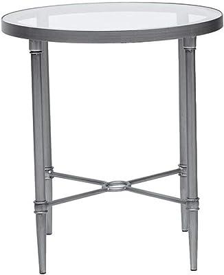 Amazon.com: HollyHOME - Mesa redonda plegable, Metal ...