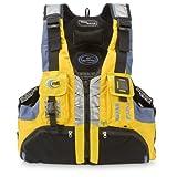 MTI Adventurewear Headwater High Buoyancy PFD Life Jacket, Cyber Yellow/Gray, X-Small/Small
