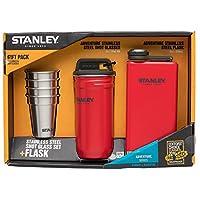 (Multiple, Crimson) - Stanley Stainless Steel Shots + Flask Gift Set