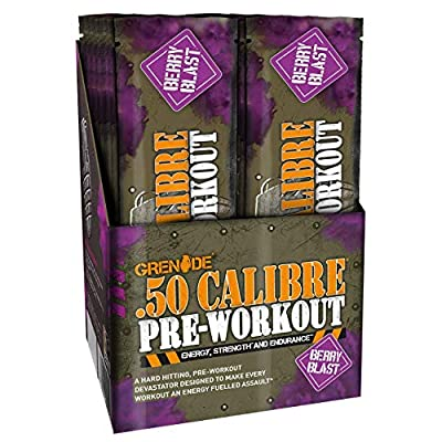Grenade 50 Calibre Pre-Workout Devastation Sachets - Berry Blast, 50 Servings (25 Sachets, 2 Servings per Sachet)