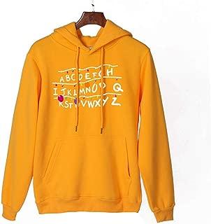 Makulas Women Sweatshirt Drawstring Hoodies Cap Solid Print Casual Long Sleeve Pullover Fashion Blouse Tops