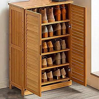 HHTX Meuble à Chaussures en Bambou, étagère de Rangement pour étagère à Chaussures empilable de Grande capacité, étagère à...