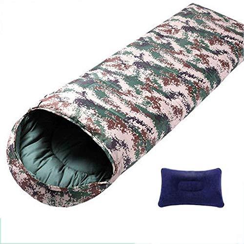 CATRP Printemps Eté Sac de Couchage Camping en Plein air Randonnée Enveloppe Militaire Respirant Adulte (Size : 1.1kg)