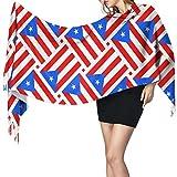 JONINOT Bandera de Puerto Rico Tejido Bufanda cálida de invierno para mujer...