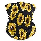 NA Halswärmer Bandana,Sonnenblume Schöne Sonnenblume Blumen Floral Black Face Shield Bandana,...