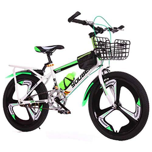 Muyu Mountainbike met 7 versnellingen, koolstofstaal, 20 inch (50,8 cm) wielen met schijfremmen
