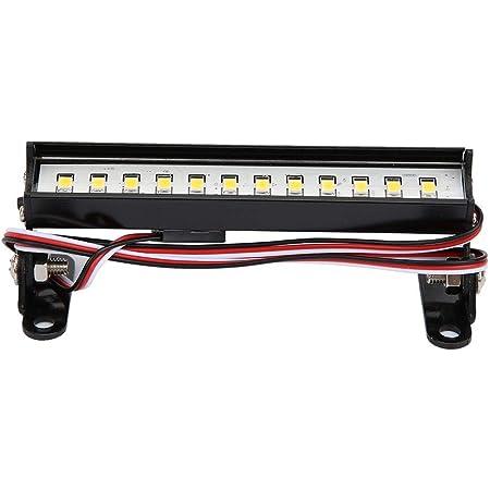 Nrpfell RC Auto LED Dach Leuchte Licht Leiste mit Umwandlung Kabel f/ür WPL D12 1//10 RC LKW Auto Upgrade Teile Zubeh?R