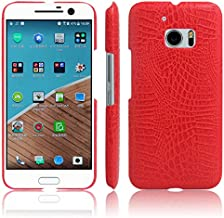 Comfort experience Phone Shell For HTC 10 Case, Personality Creativity Luxury Classic Crocodile Skin Pattern [Ultra Slim] PU Leather Anti-scratch PC Protective Hard Case Cover For HTC 10 / HTC One M10