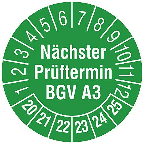 Labelident Mehrjahresprüfplakette Nächster Prüftermin BGV A3