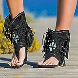 JUSTMAE Retro Mujeres Flecos Flor cuñas Zapatos 2021 sólido Flocado Playa Sandalias Casuales Mujeres Verano Chanclas Sandalias