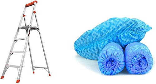Little Giant Ladders, Flip-N-Lite, 6-Foot & G & F Products - 13033 Premium 100 Pack (50 Pairs ) Disposable Boot & Sho...