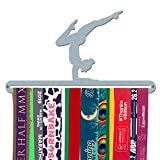 Medaillen-Aufhänger 'weibliche Gymnast', gebürsteter Edelstahl, hergestellt in Großbritannien