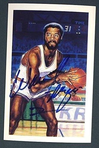 John Starks NBA New York Knicks Hand Signed 8x10 Photograph Dunking Blue Jersey