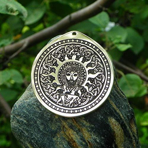 Lugh (Lug) Celtic irish god of the Sun necklace.