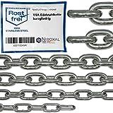 100-cm = 1-metri 5-mm di spessore catena in acciaio inossidabile inox V4A a maglia corta da NietFullThings in un unico pezzo catena di ancoraggio DIN 5685 DIN 766 1-m