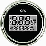 ELING Wasserdichter digitaler GPS Tacho Kilometerzähler für Auto Marine Truck mit Hintergrundbeleuchtung 2 Zoll (52mm) 9-32V