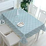 XXDD Mantel Rectangular Grueso a Cuadros Estampado Floral Mantel Impermeable y a Prueba de Aceite Mantel de Cocina A11 135x200cm