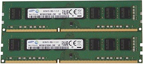 Samsung original 16GB, (2 x 8GB) 240-pin DIMM, DDR3 PC3-12800, desktop memory module