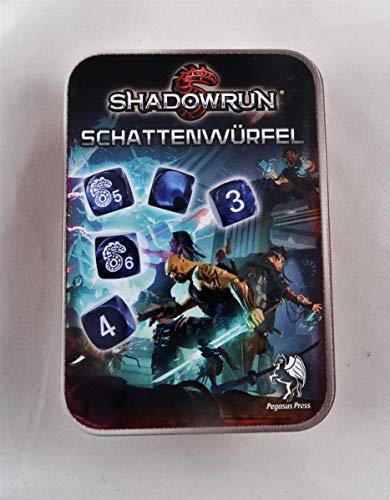 Pegasus Spiele 134102 - Würfelset, Shadowrun, neue Version, schwarz/blau