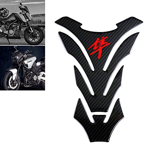 Universal Real Carbon Fiber Motorcycle Tank Pad Gas Oil Fuel Tank Pad Vinyl Decal Tank Protector Motorcycle Stickers For SUZUKI HAYABUSA All Models