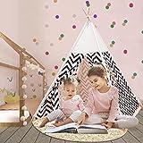 Q-FQRM Tienda de campaña para niños con alfombra para niños y...