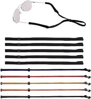 Senhai - 10 piezas Unisexo Ajustable Retenedor de gafas, Senhai Correa de retención de gafas de sol Titular de anteojos Cuerda De forma segura Cordón de cuello para deportes, lectura, actividades al aire libre