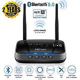 [Upgrade] AICase Bluetooth 5.0 Transmitter Receiver,Dual Antennas 265ft 3 in 1 Bluetooth Audio