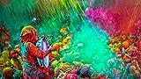 Gulal Holi powder-gulal polvo de color–Pack de 5, 100g cada, Festival colores polvo de color por omg-deal