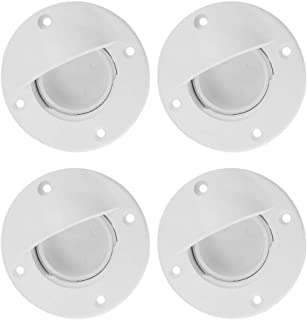 Perfk 4pcs Marine Boat Transom Deck Drain Scupper Valve Cap with Seal for Kayak Canoe Yacht