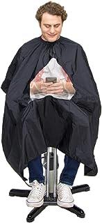 شنل زنانه GreenMan Barber Unisex - پنجره مشاهده شفاف سالن پیش بند برای موهای حرفه ای / تجاری