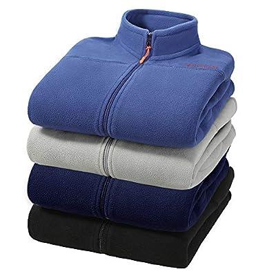 Pioneer Camp Men's Fleece Jackets with Full Zipper Soft Thick Zip Up Polar Fleece Casual Outwear (Dark Blue, XL)