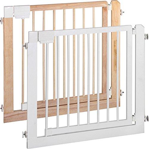 ib style® KOLBY   Treppengitter   Türschutzgitter   Ohne Bohren  aus massivem Holz   94-100 cm Natur