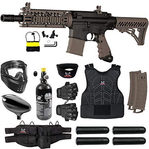 Maddog Tippmann TMC MAGFED Protective HPA Paintball Gun Starter Package - Tan
