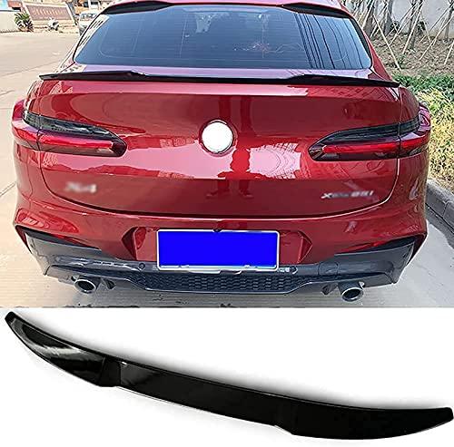 SUKLIER Coche Tronco AleróN Trasero,Abs Car Rear Trunk Techo Spoiler Lip Wing, para BMW X4 G02 2020 2021,Estilo Y CarroceríA