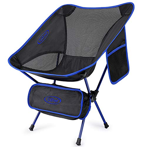 G4Free Upgraded Camping Chairs, Ultralight Portable Folding Chair Compact Heavy Duty with Carry Bag for Outdoor, Camp, Backpacking, Hiking, Picnic, BBQ?Dark Blue?