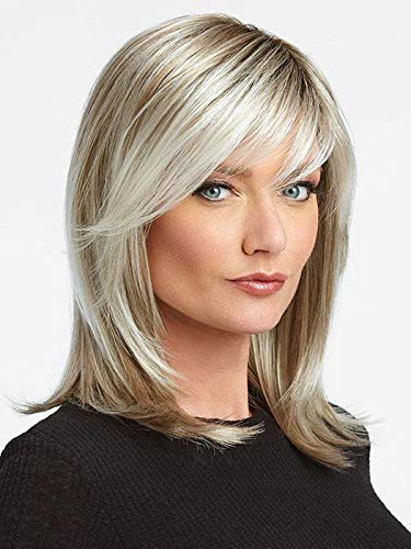 """Watch Me Wow Wig Color SS23 SHADED VANILLA - Raquel Welch Wigs 13"""" Shoulder Length Soft Tru2Life Heat Friendly Synthetic Lace Front Monofilament Crown Memory Cap III Bundle MaxWigs Hairloss Booklet"""