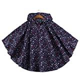 FEIXIANG - Abrigo impermeable ligero para niño, con capucha azul marino Medium/ 100-125cm