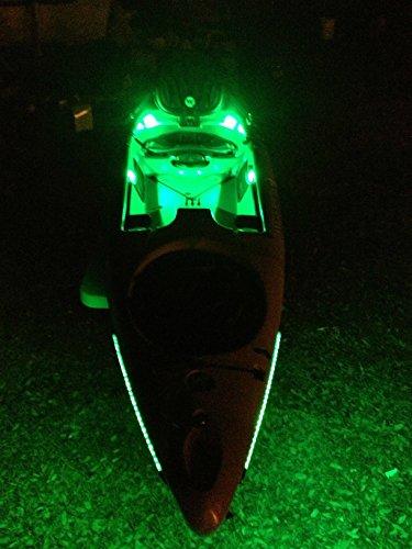 Vorocon Green Kayak Fishing Lights (Black Background, 9v Battery Box)
